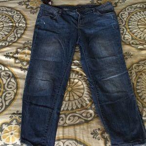 Apt 9 straight leg Capri jeans women's 12